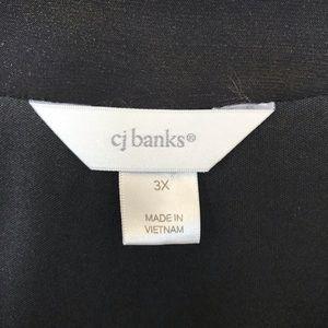 CJ Banks Tops - CJ Banks ruffled polka dot tunic